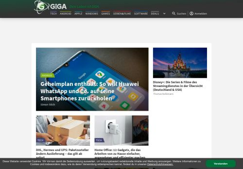 giga.de Desktop Screenshot