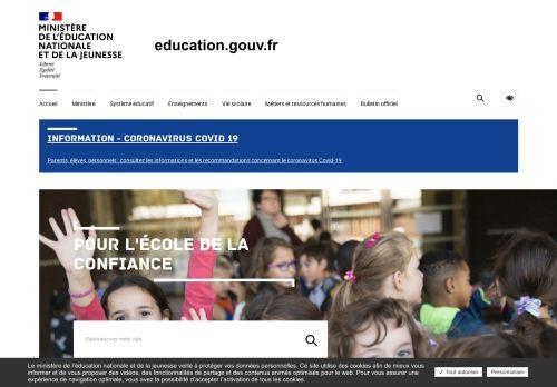 education.gouv.fr Desktop Screenshot