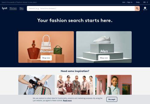 lyst.co.uk Desktop Screenshot