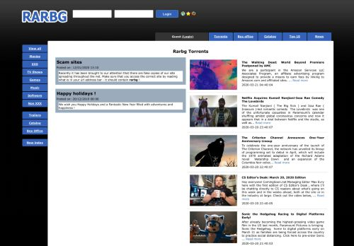 rarbgprx.org Desktop Screenshot