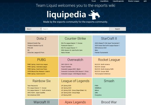 liquipedia.net Desktop Screenshot