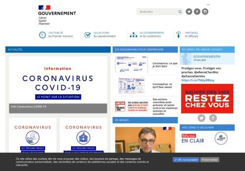 gouvernement.fr Desktop Screenshot