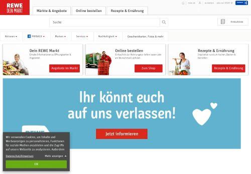 rewe.de Desktop Screenshot