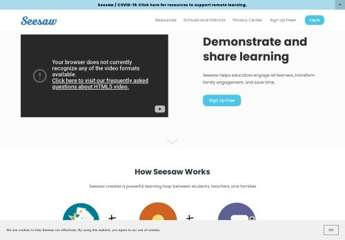 seesaw.me Desktop Screenshot