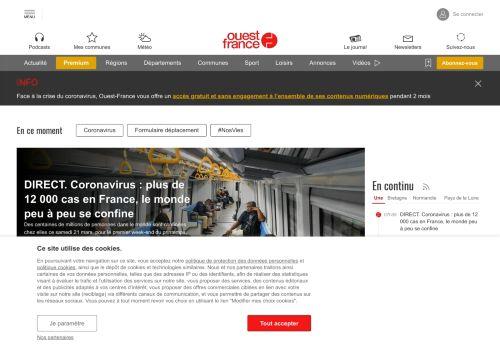 ouest-france.fr Desktop Screenshot