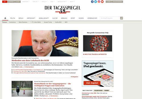 tagesspiegel.de Desktop Screenshot