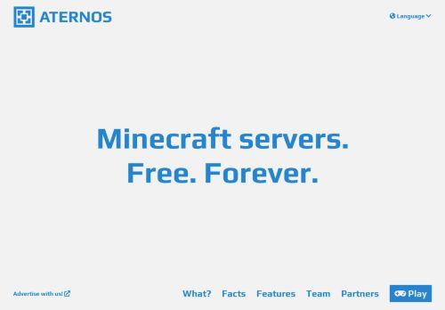 aternos.org Desktop Screenshot