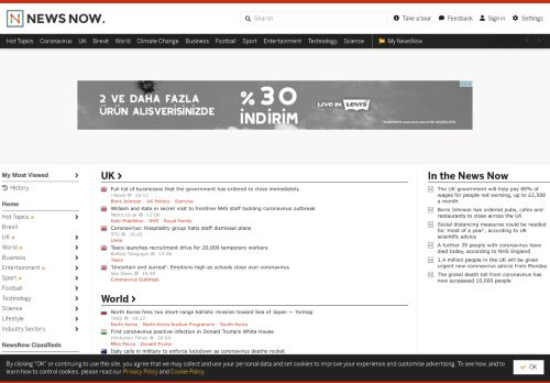 newsnow.co.uk Desktop Screenshot