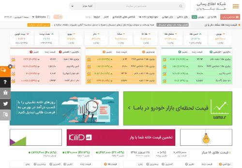 tgju.org Desktop Screenshot