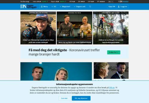 dn.no Desktop Screenshot