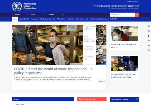ilo.org Desktop Screenshot