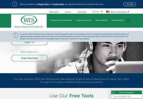 wes.org Desktop Screenshot