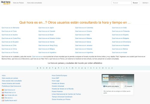 quehoraesen.net Desktop Screenshot
