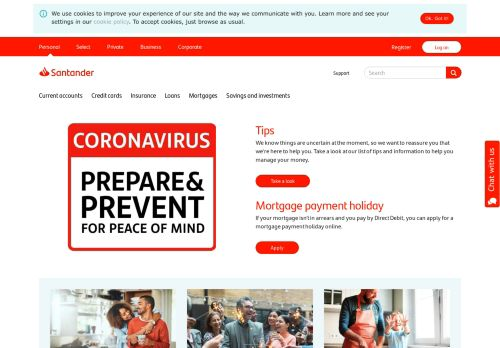 santander.co.uk Desktop Screenshot