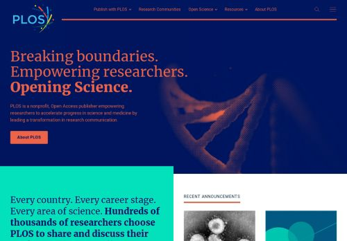 plos.org Desktop Screenshot