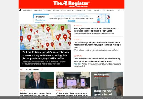 theregister.co.uk Desktop Screenshot