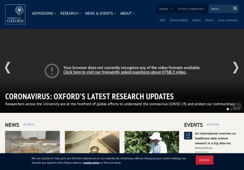 ox.ac.uk Desktop Screenshot