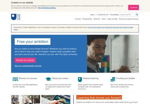 open.ac.uk Desktop Screenshot