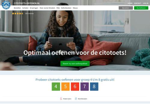 citotoets-oefenen.nl Desktop Screenshot