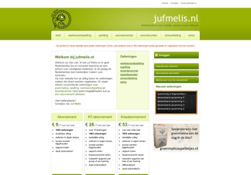 jufmelis.nl Desktop Screenshot