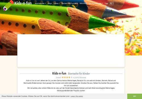 kids-n-fun.de Desktop Screenshot