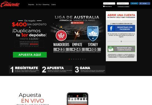 caliente.mx Desktop Screenshot