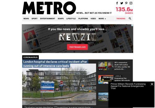 metro.co.uk Desktop Screenshot