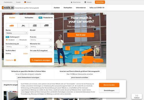 mobile.de Desktop Screenshot