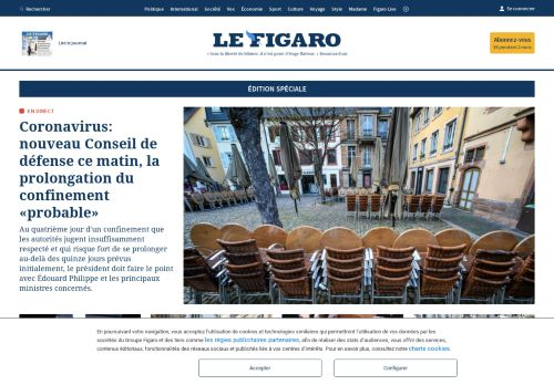 lefigaro.fr Desktop Screenshot