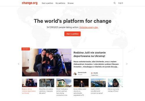 change.org Desktop Screenshot