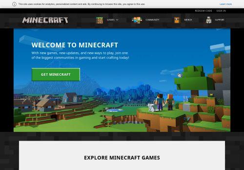 minecraft.net Desktop Screenshot