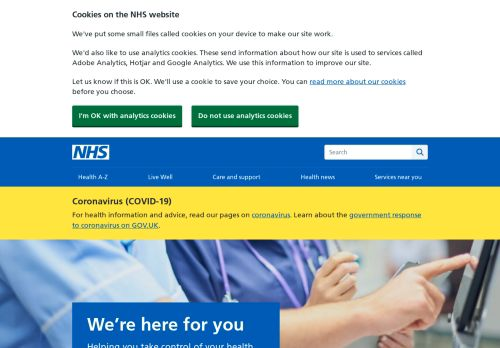 www.nhs.uk Desktop Screenshot