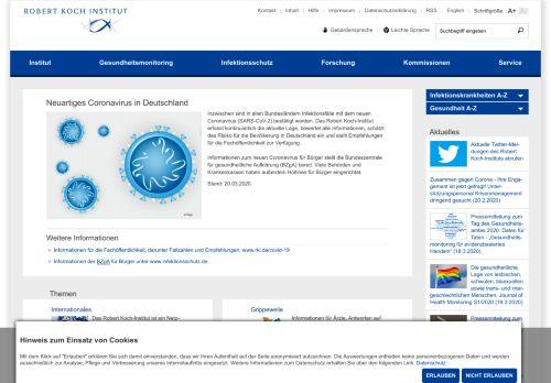 rki.de Desktop Screenshot