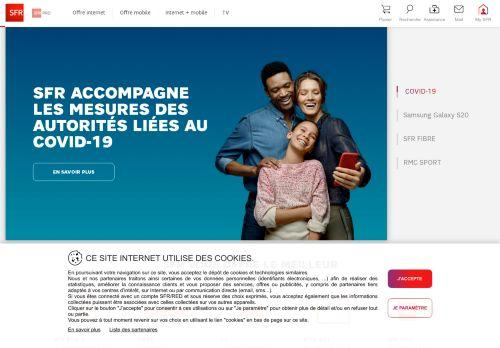 sfr.fr Desktop Screenshot