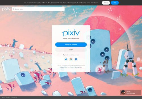 pixiv.net Desktop Screenshot