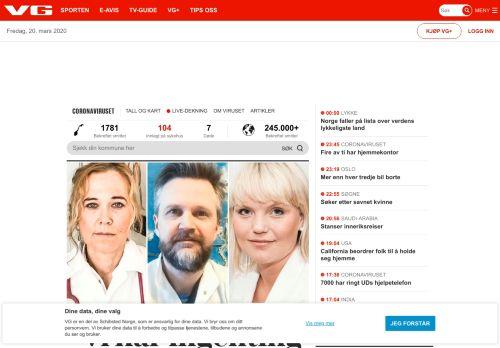 vg.no Desktop Screenshot