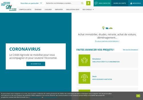 credit-agricole.fr Desktop Screenshot