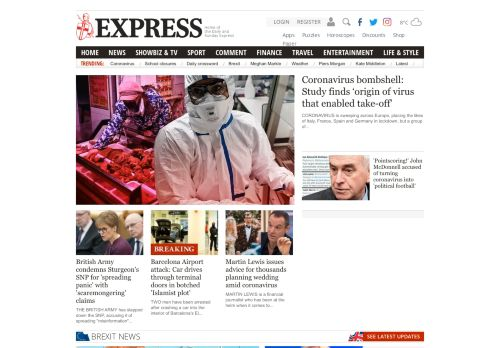 express.co.uk Desktop Screenshot