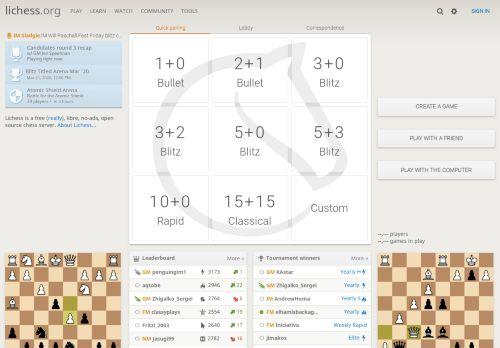 lichess.org Desktop Screenshot