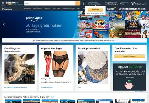 amazon.de Desktop Screenshot