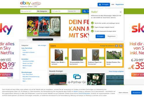 ebay-kleinanzeigen.de Desktop Screenshot