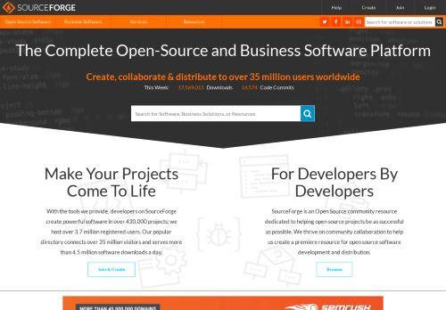 sourceforge.net Desktop Screenshot