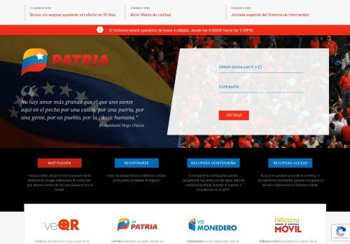 patria.org.ve Desktop Screenshot