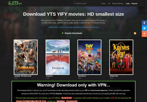 yts.mx Desktop Screenshot