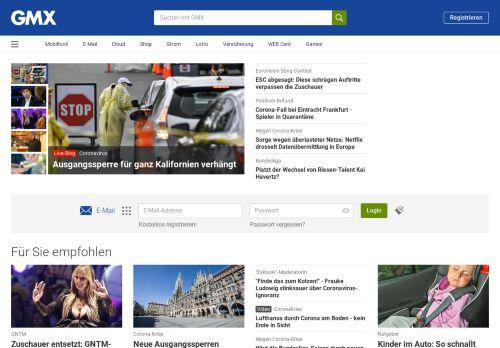 gmx.net Desktop Screenshot