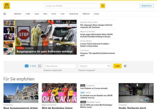 web.de Desktop Screenshot