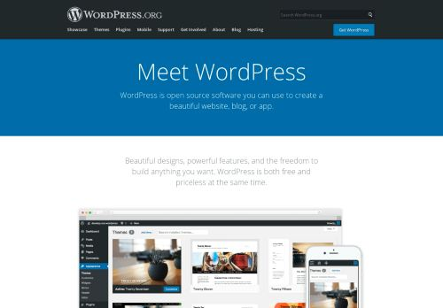 wordpress.org Desktop Screenshot