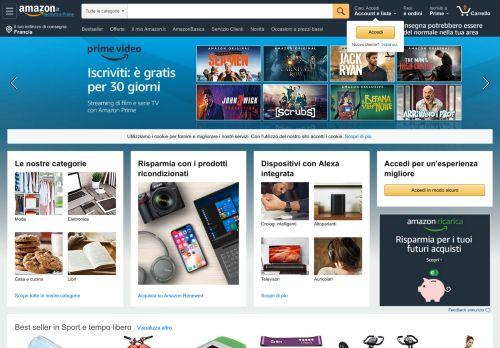 amazon.it Desktop Screenshot