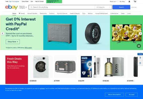 ebay.co.uk Desktop Screenshot