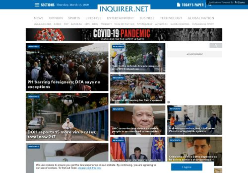inquirer.net Desktop Screenshot